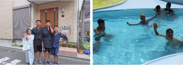 ホストファミリーと日本の夏休みを体験するベトナムの子どもたち