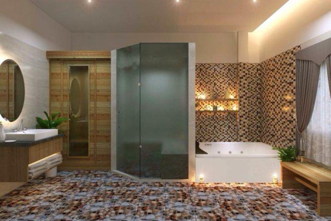 サウナやバスタブも完備。施術後はシャワーは無料で浴びれます。