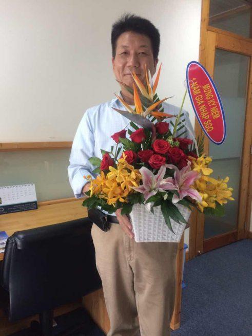 一周年記念花束
