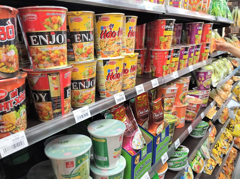 ベトナム国内で見られる商品も多くありました