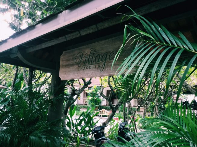 「Thao Dien Village」のホテル内にあり、都会の喧騒から離れた豊かな自然の中でリラックスできる。
