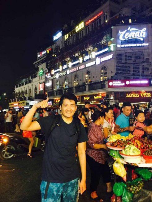ベトナムを楽しむ様子