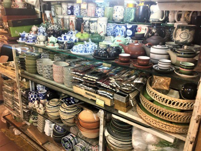 陶器を扱っていたお店