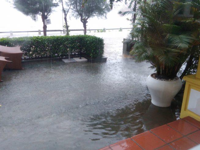 5日正午のトゥボン川沿いの様子