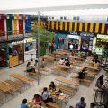 買い物も食事も一度に楽しめるスポットがグエンフエ通りにオープンしました。