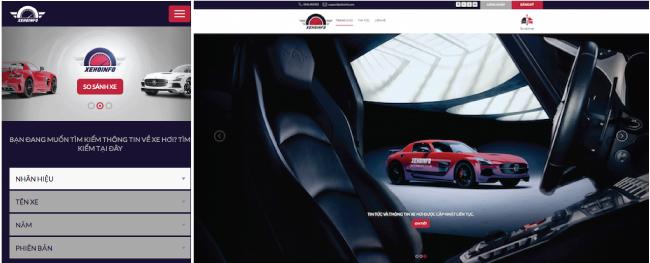 Xehoinfoのトップ画面(左:スマートフォンサイト 右:PCサイト)