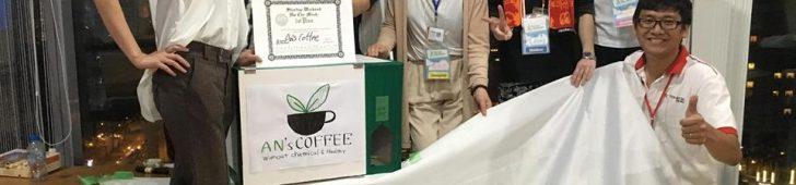 """世界的起業コンテスト Startup Weekend のベトナム大会(Ho Chi Minh)で 日越合同チーム""""An's coffee""""が優勝! ~化学物質の含まれない、健康に優しく美味しい真のベトナムコーヒーを広めよう~"""
