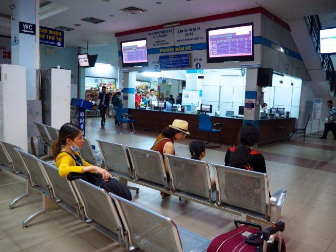 サイゴン駅1階チケットカウンター