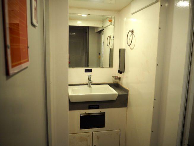 車両毎に設置されている洗面台