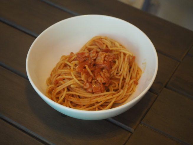 トマト系パスタも絶品