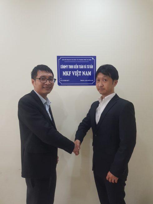 MKF代表Mai Xuan VanとNIKOMIX代表SHUJI JOZAKI