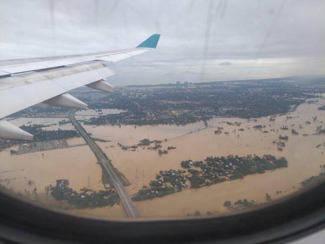 ホイアンの街が水没している