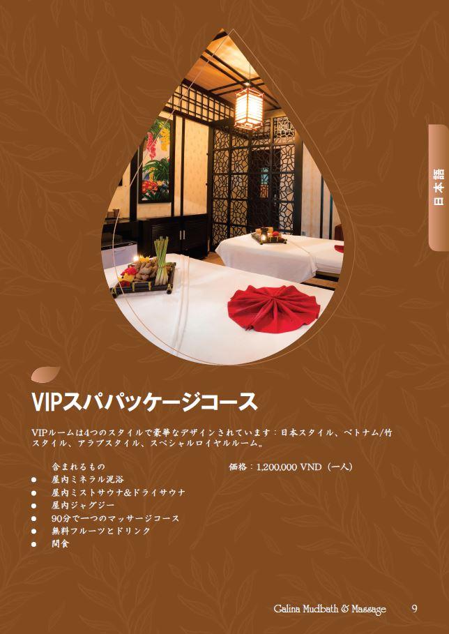 VIPルームのパッケージ詳細