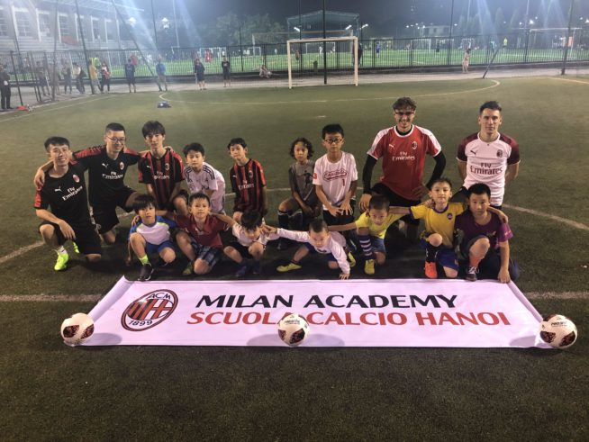 ハノイのACミランサッカースクールが今年11月2日に開校 11月23日無料体験会開催